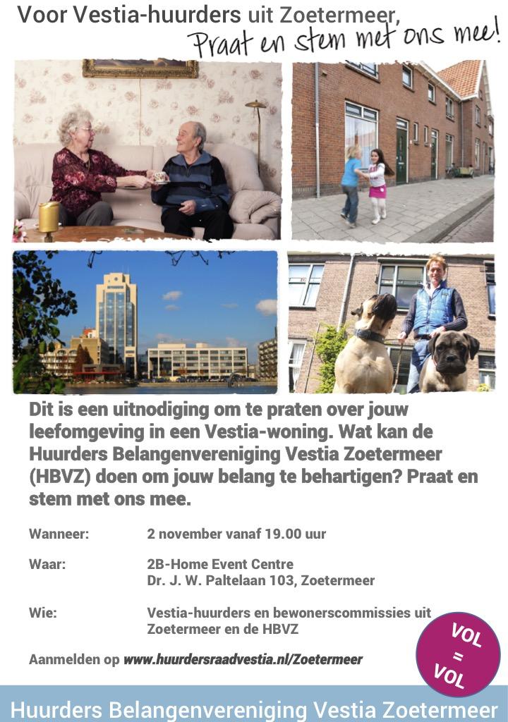 Uitnodiging Zoetermeerse huurder